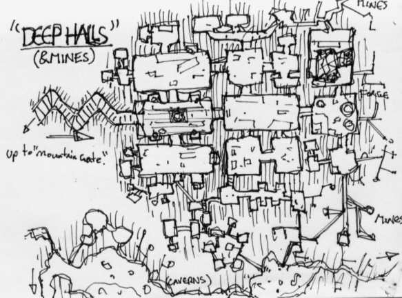 Fantasy Gaming Floor Plans and Maps / Rough Doodle Maps on